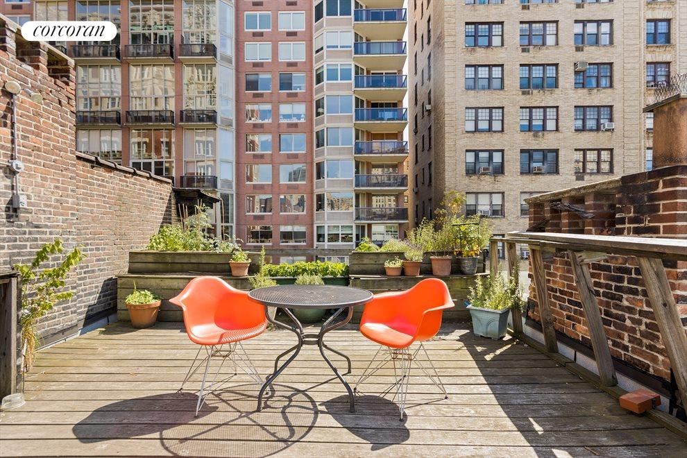 New York City Real Estate | View 263 West 90th Street | Amazing bi-level roof deck off the penthouse