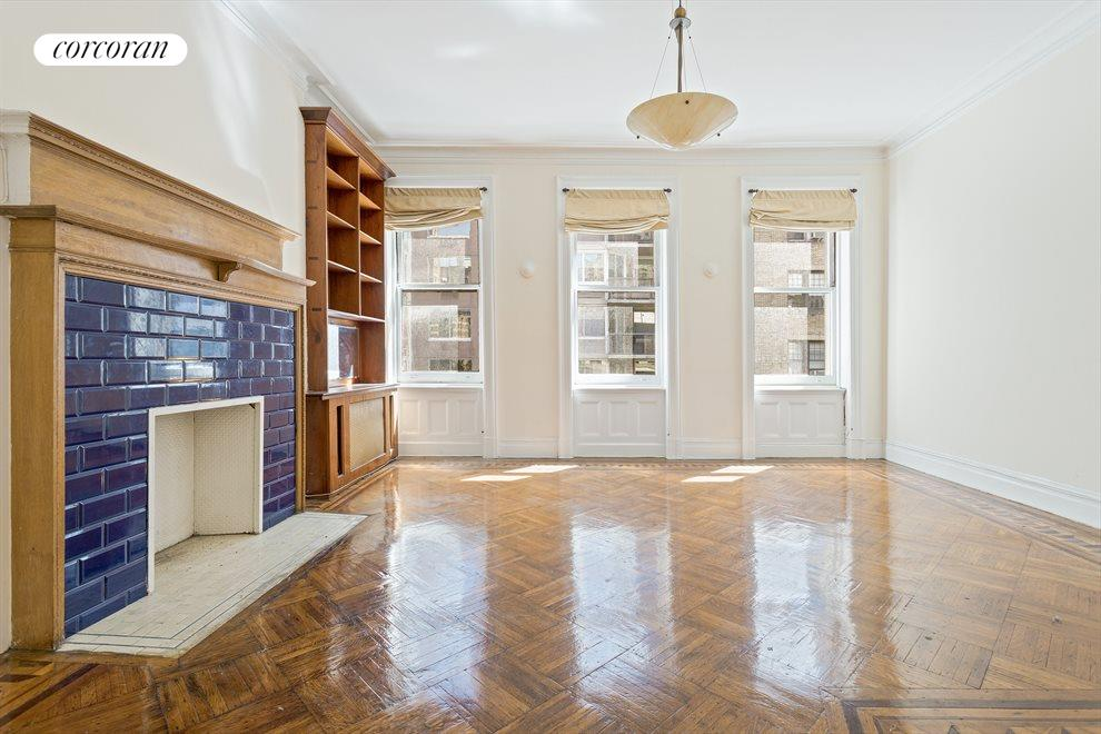 New York City Real Estate | View 263 West 90th Street | Living room in the floor-thru apartment