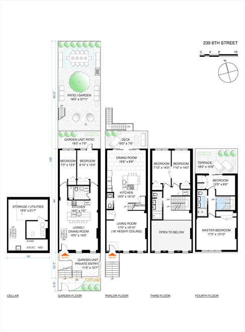 New York City Real Estate | View 239 8th Street | Floorplan