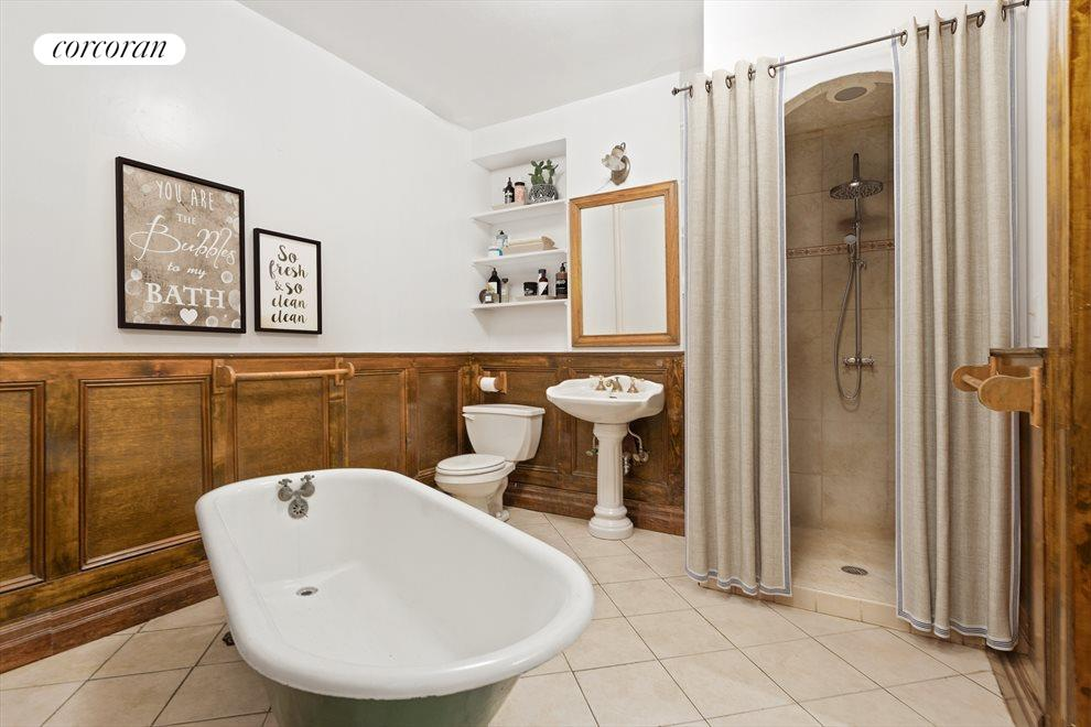 New York City Real Estate | View 263 West 90th Street | Bathroom in the garden duplex