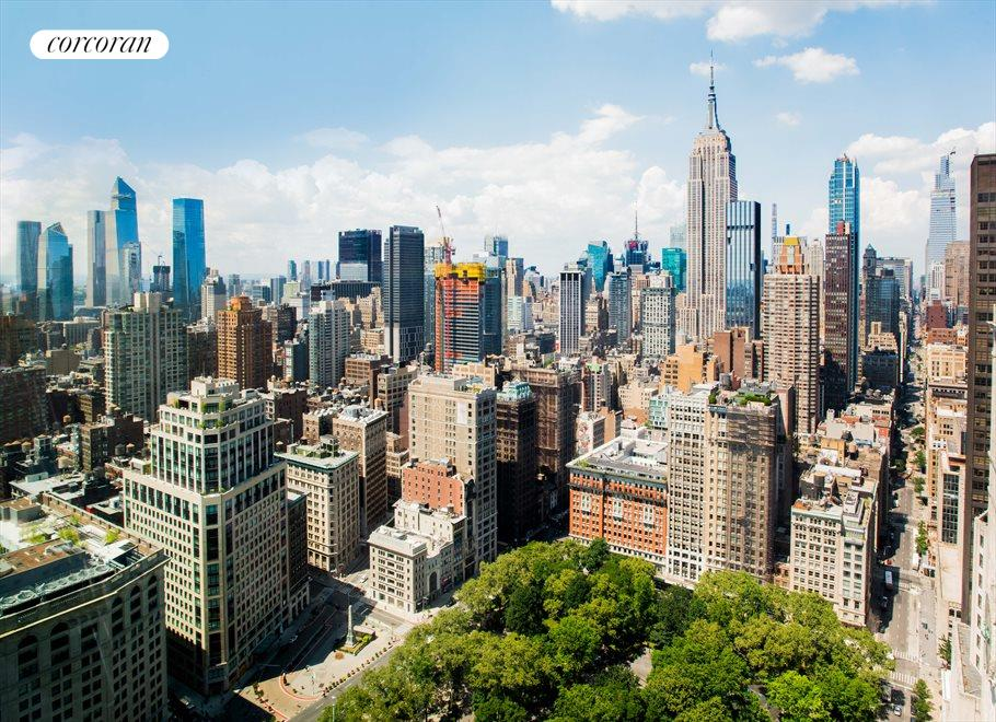 New York City Real Estate | View 23 East 22nd Street, #48th Floor | View from Dining Area