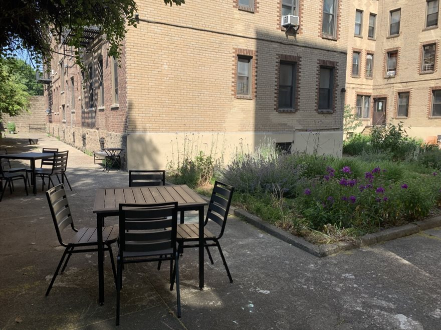 New York City Real Estate | View 80 Winthrop Street, #A3 | common courtyard garden