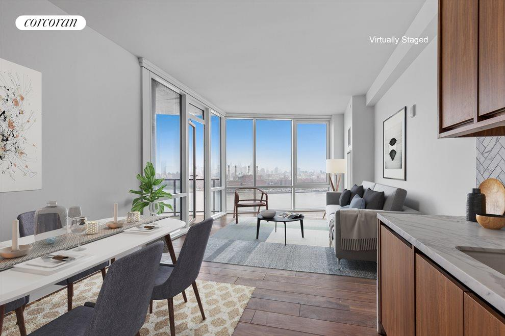 New York City Real Estate | View 21 India Street, #28K | 2 Beds, 2 Baths