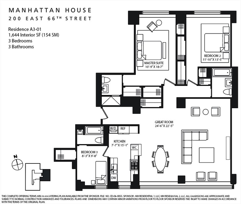 New York City Real Estate | View 200 East 66th Street, #A301 | Floorplan