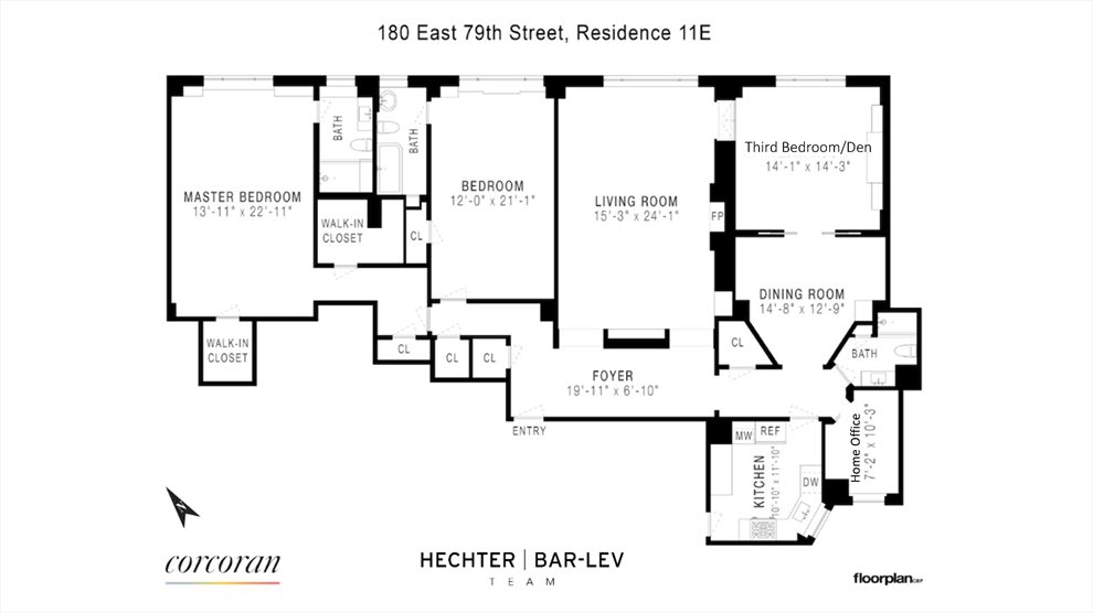 New York City Real Estate | View 180 East 79th Street, #11E | Floorplan