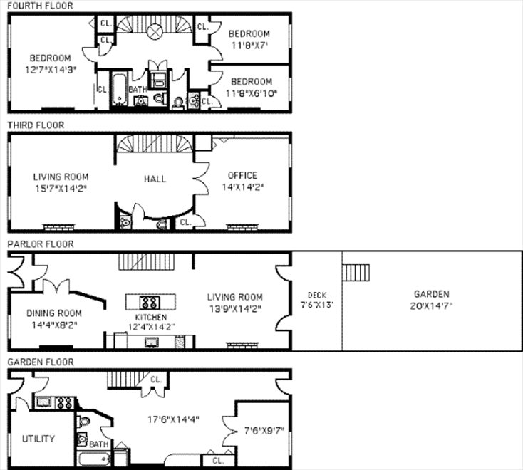 New York City Real Estate | View 57 Tompkins Place | Floorplan