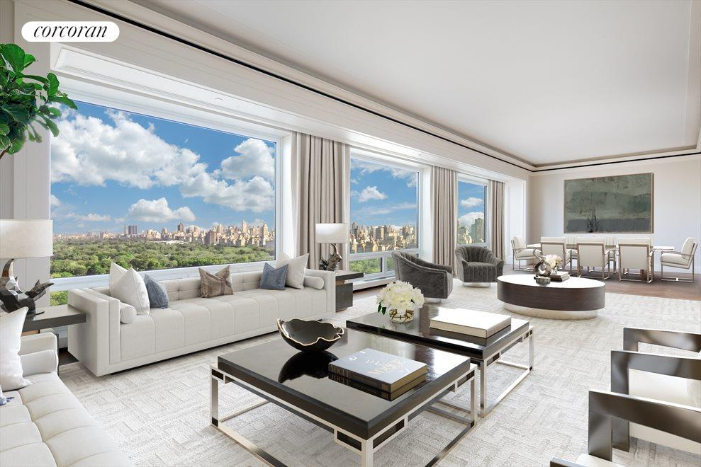 New York City Real Estate | View 220 Central Park South, #31A | 4 Beds, 4.5 Baths