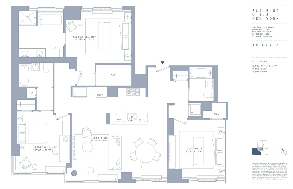 New York City Real Estate | View 389 East 89th Street, #28A | Floorplan