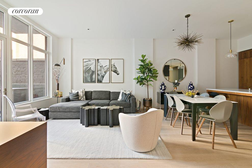 New York City Real Estate | View 509 Pacific Street, #3A | Living Room with 10' Ceilings