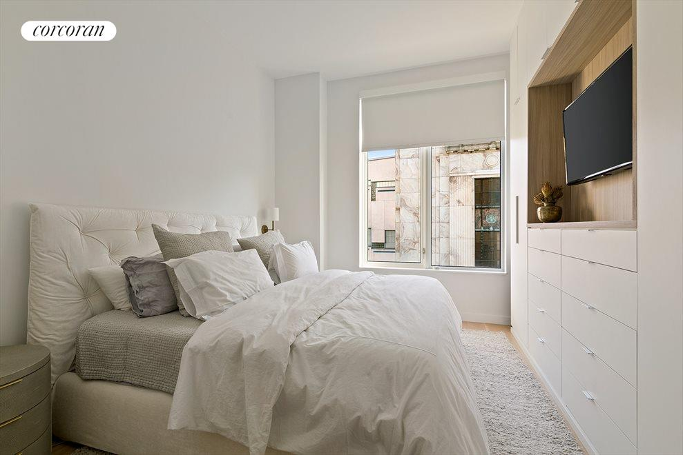 New York City Real Estate | View 509 Pacific Street, #3A | Master Bedroom with Custom Built-Ins