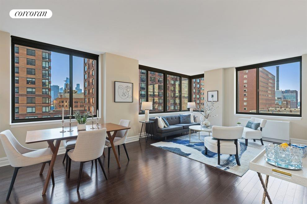 New York City Real Estate | View 2 Columbus Avenue, #8A | Living Room