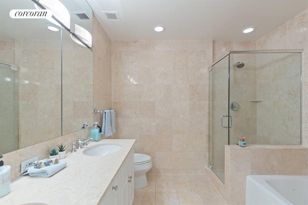 New York City Real Estate | View 2 Columbus Avenue, #8A | Master Bathroom