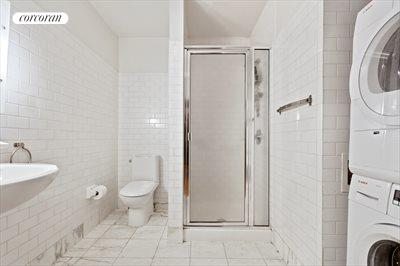 New York City Real Estate | View 19-21 WARREN ST, #3W | Bathroom 2  with Washer/Dryer
