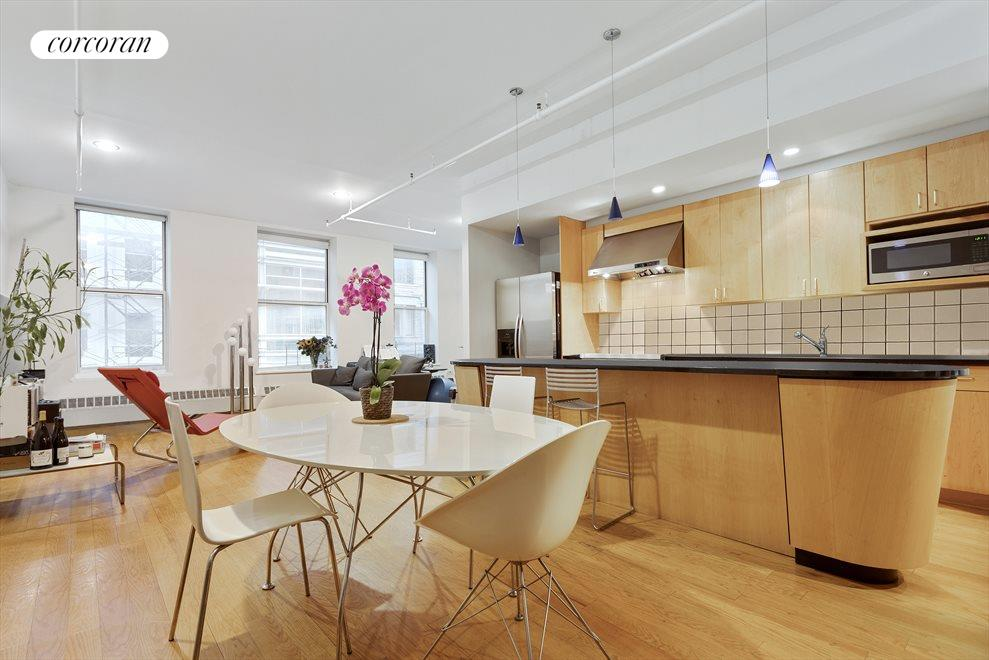 New York City Real Estate | View 19-21 WARREN ST, #3W | Dining Area, Kitchen