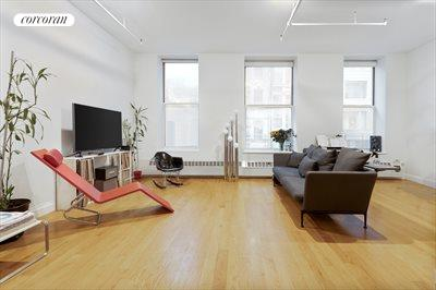 New York City Real Estate | View 19-21 WARREN ST, #3W | Expansive Living, Hardwood Floors