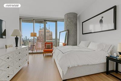 New York City Real Estate | View 56 LEONARD ST, #25A EAST | impressive master bedroom suite with dressing area