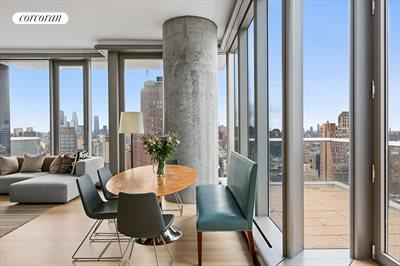 New York City Real Estate | View 56 LEONARD ST, #25A EAST | Dining area with adjoining terrace