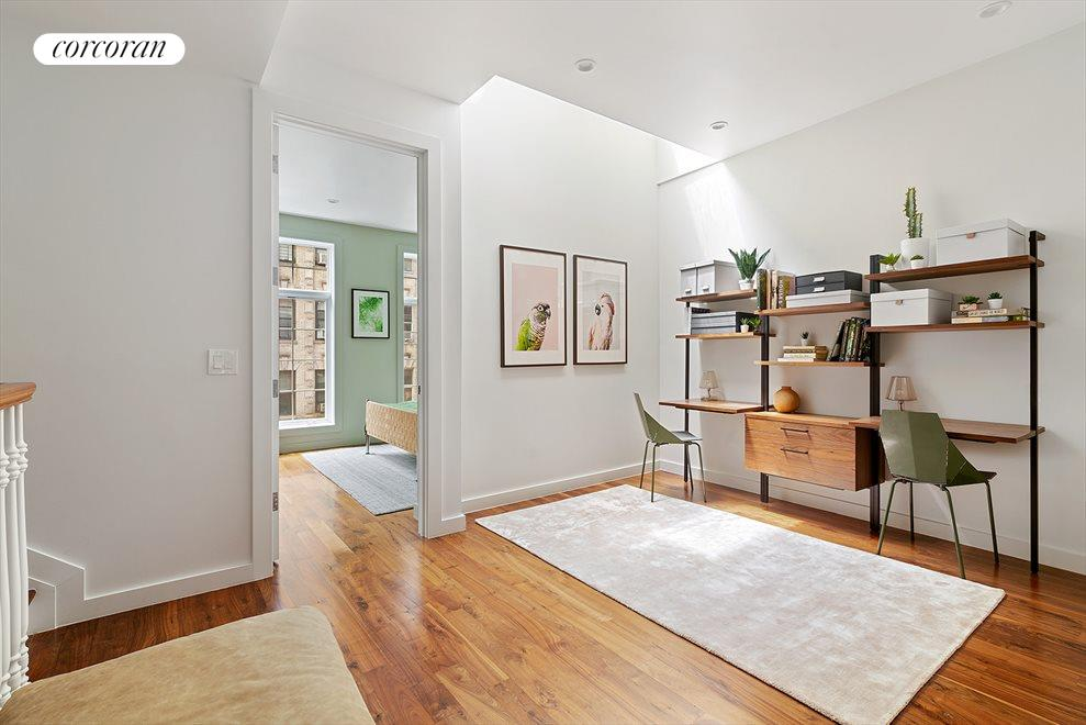 New York City Real Estate | View 127 South 1st Street | Home Office with Skylights