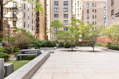 New York City Real Estate | View 245 West 99th Street, #28A | Building Common Courtyard