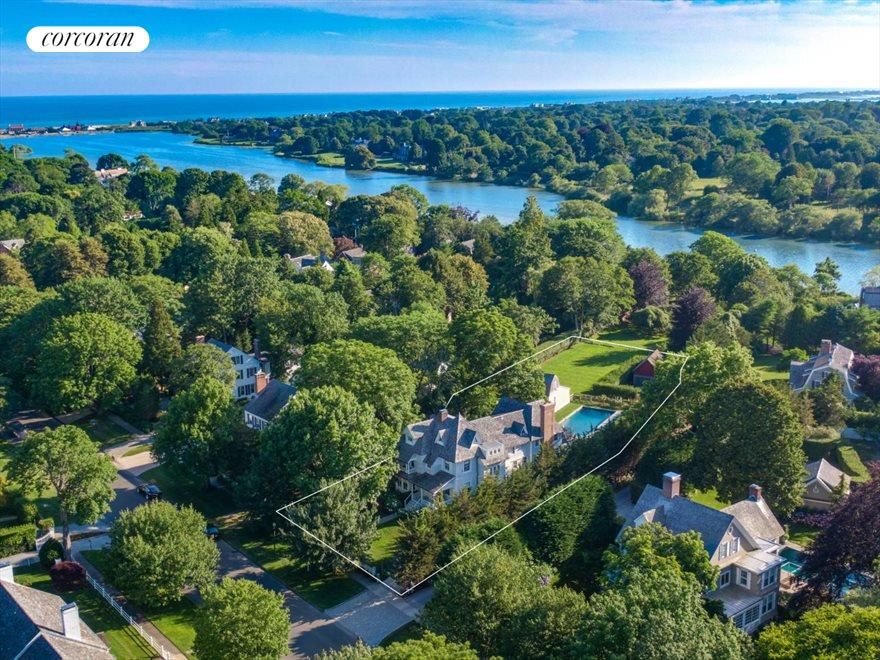 The Hamptons Real Estate | View 75 South Main Street | Views of Lake Agawam
