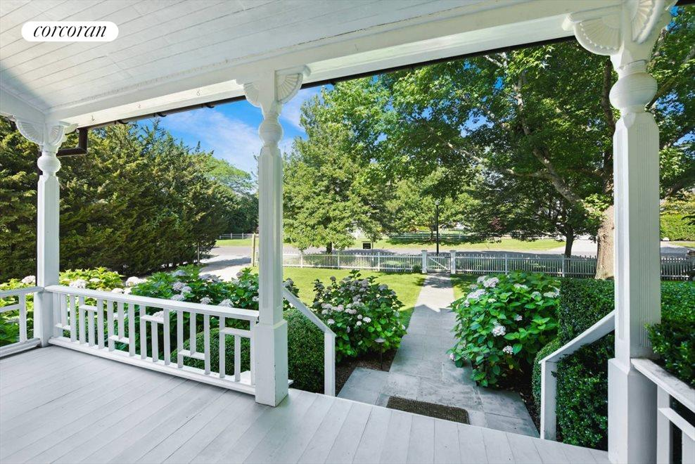 The Hamptons Real Estate | View 75 South Main Street | Views From Front Porch