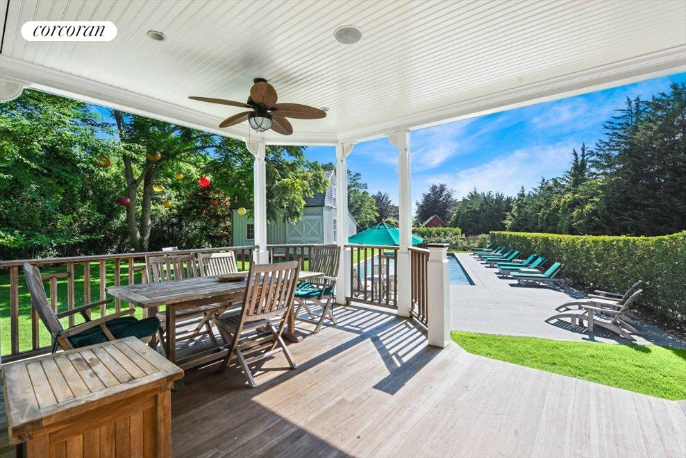 The Hamptons Real Estate | View 75 South Main Street | Views from Back Porch