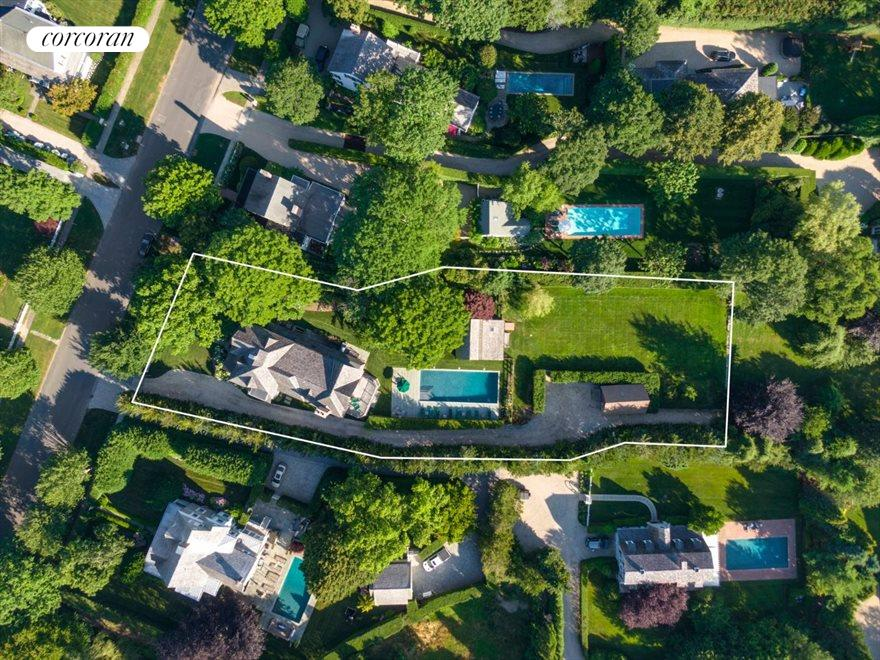 The Hamptons Real Estate | View 75 South Main Street | Aerial View
