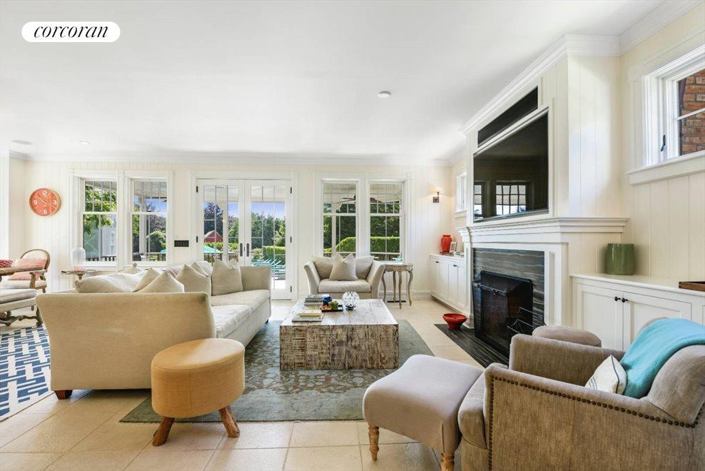 The Hamptons Real Estate | View 75 South Main Street | Flat Screen & Fireplace