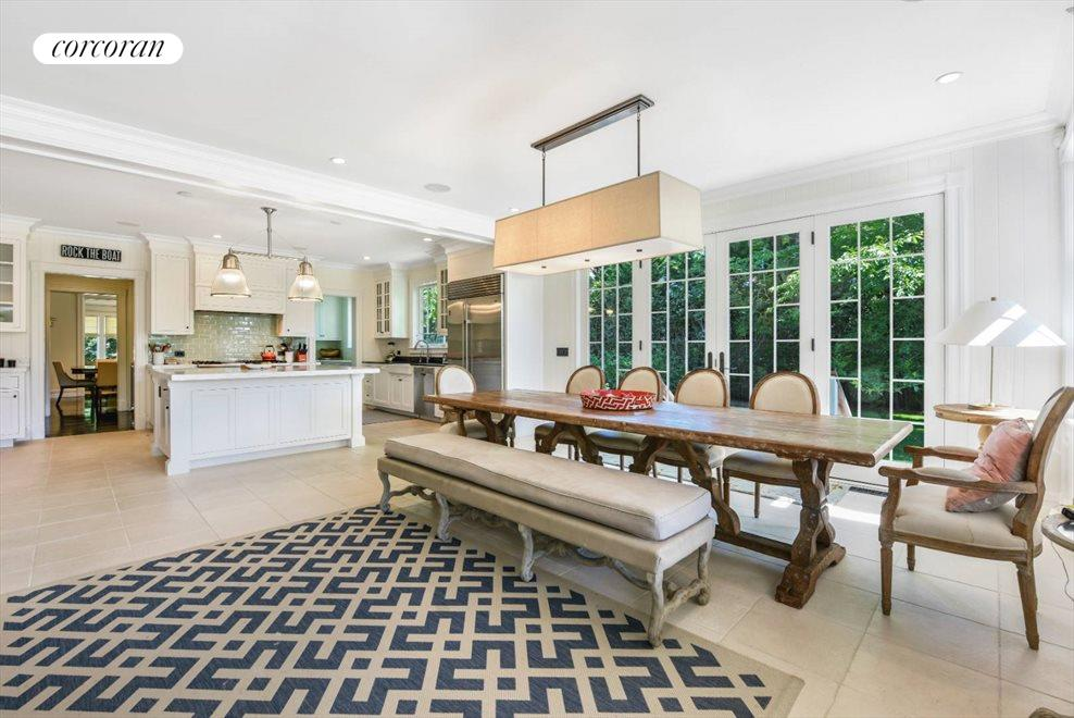 The Hamptons Real Estate | View 75 South Main Street | Kitchen Dining