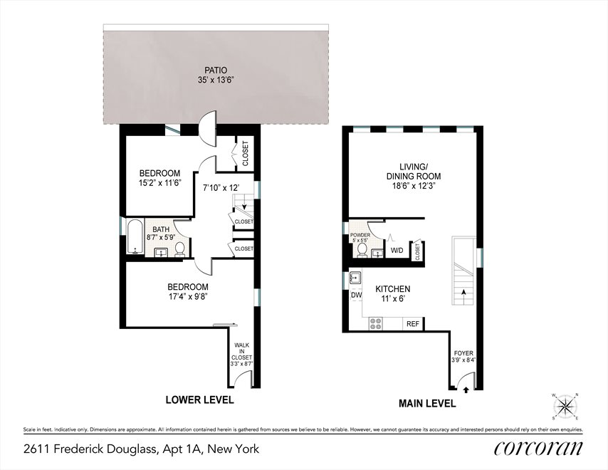 New York City Real Estate | View 2611 FREDERICK DOUGLASS B, #1A | Floorplan