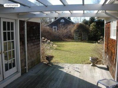 The Hamptons Real Estate | View East Hampton | Outdoor deck for dining, relaxing