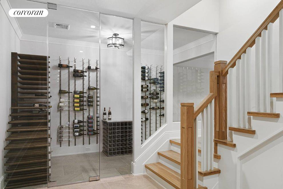 The Hamptons Real Estate | View 96 Leos Lane | Wine Room