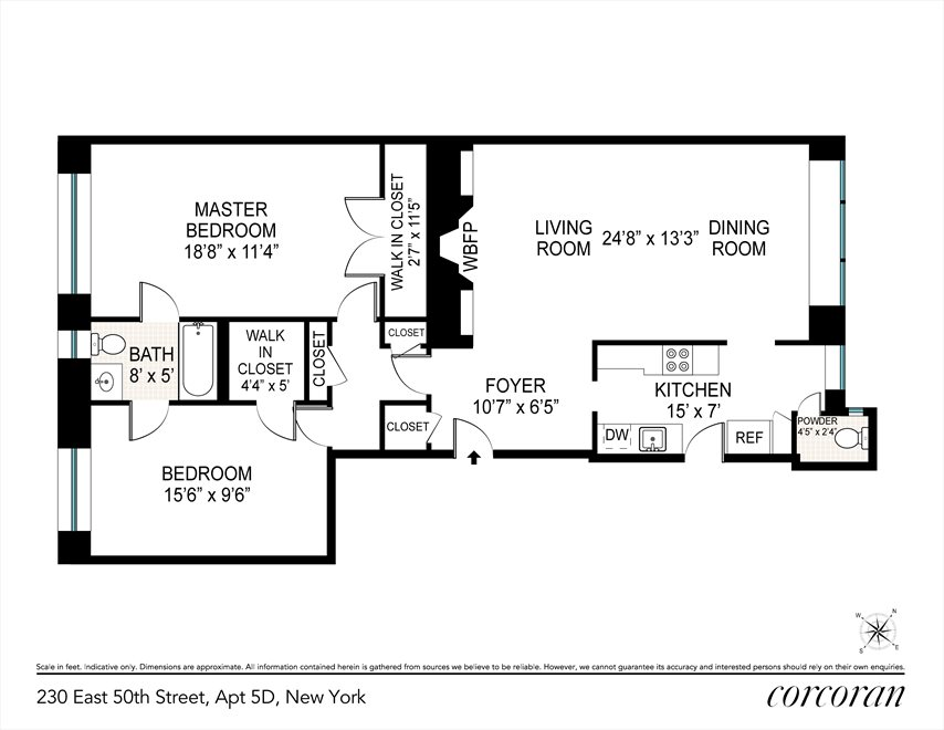 New York City Real Estate | View 230 East 50th Street, #5D | Floorplan