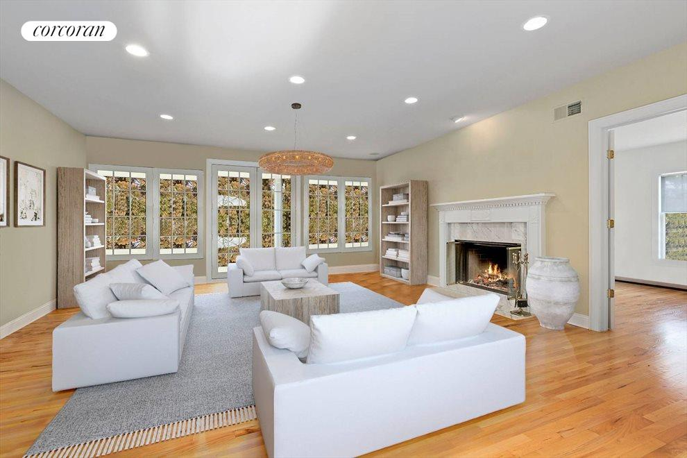 The Hamptons Real Estate | View 15 Parrish Pond Lane | Re-imagined Great Room