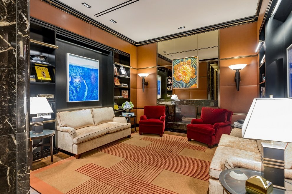 53 West 53 Apartment Building | View 53 West 53rd Street | Thierry Despont-designed lobby library