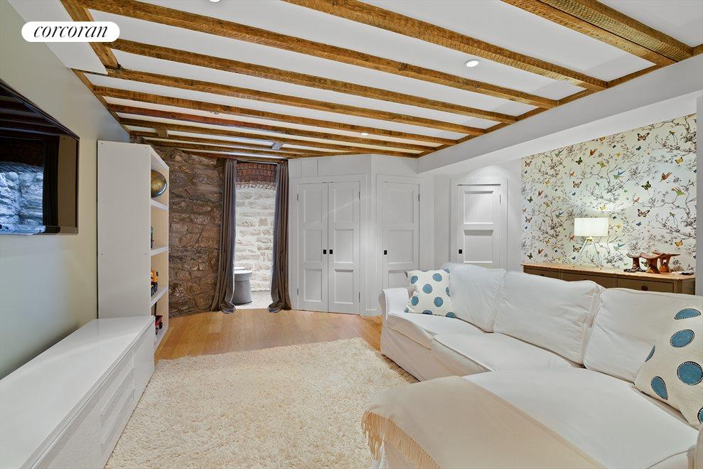 New York City Real Estate | View 151 Midwood Street | Finished Basement with Natural Light