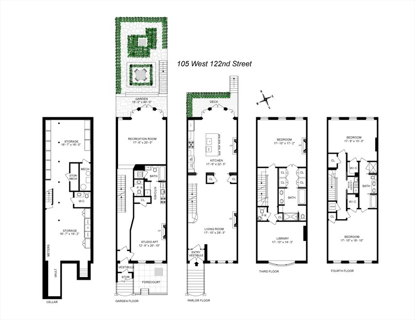 New York City Real Estate | View 105 West 122nd Street | Floorplan