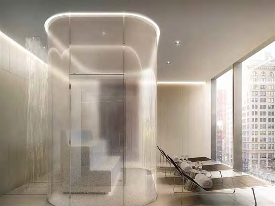 New York City Real Estate | View 23 East 22nd Street, #48th Floor | Steam room