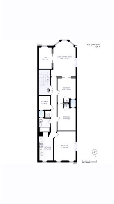 New York City Real Estate | View 17 Saint Johns Place, #2 | Floorplan