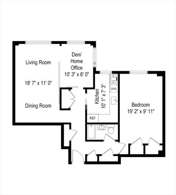 New York City Real Estate | View 365 Clinton Avenue, #8A | Floorplan