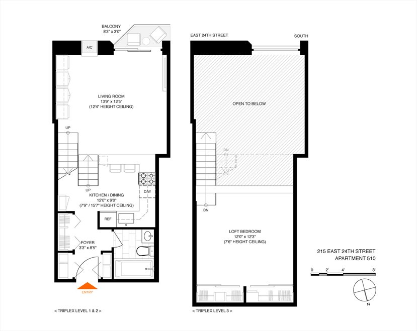 New York City Real Estate | View 215 East 24th Street, #510 | Floorplan
