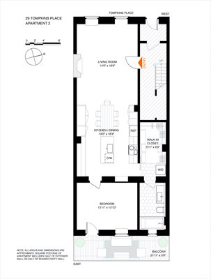 New York City Real Estate | View 29 Tompkins Place, #2 | Floorplan