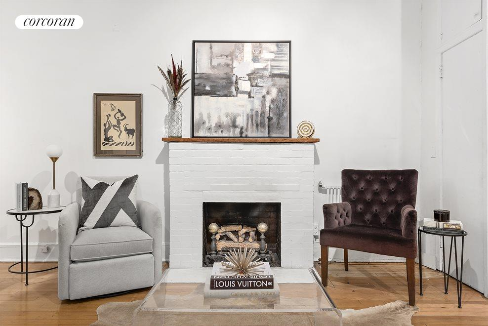 New York City Real Estate | View 255 West 86th Street, #Duplex | Cozy Lounge with Fireplace