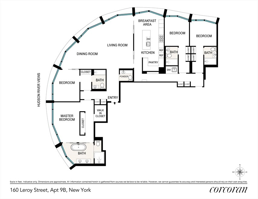 New York City Real Estate | View 160 LEROY ST, #NORTH9B | Floorplan