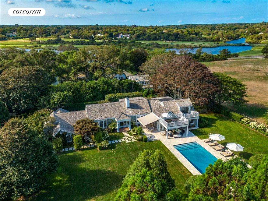 The Hamptons Real Estate | View 45 Highway Behind the Pond | 7 Beds, 7 Baths