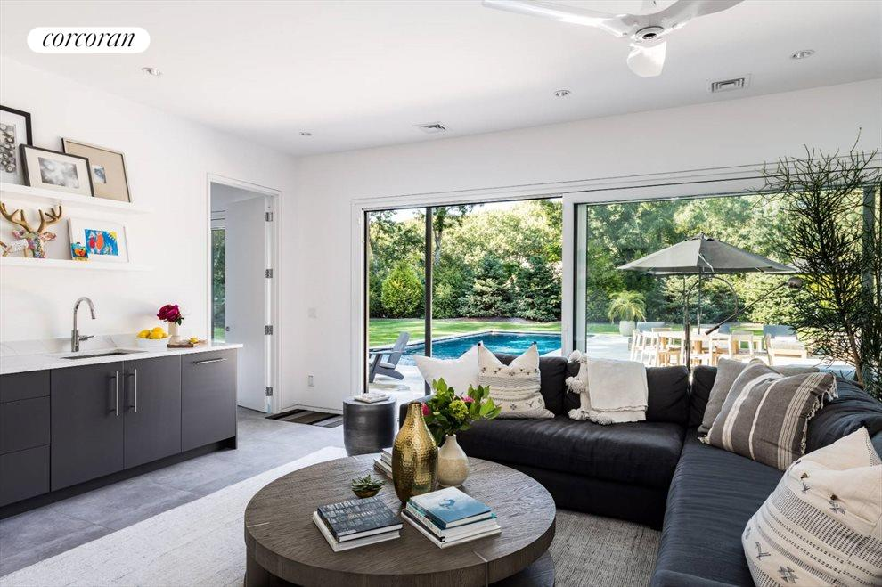The Hamptons Real Estate | View 29 Margaret Drive | Lower Level Living Room