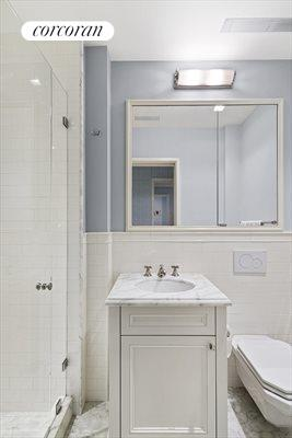 New York City Real Estate | View 830 Park Avenue, #7-8A | Full bath for Playroom/5th Bedroom