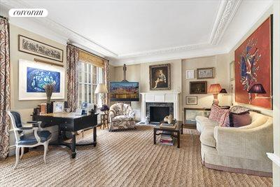New York City Real Estate | View 830 Park Avenue, #7-8A | Living Room with almost 10ft ceiling