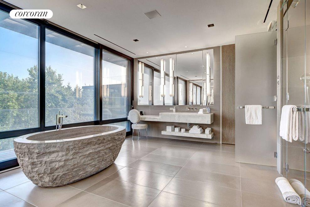 The Hamptons Real Estate | View 142 Crestview Lane | master bathroom