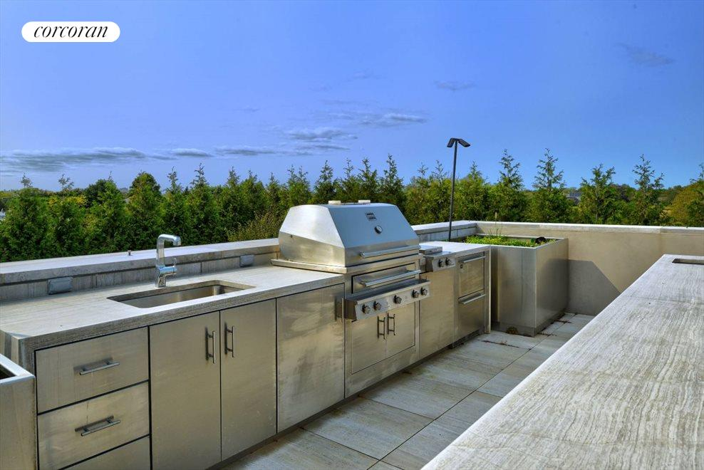 The Hamptons Real Estate | View 142 Crestview Lane | roof deck BBQ